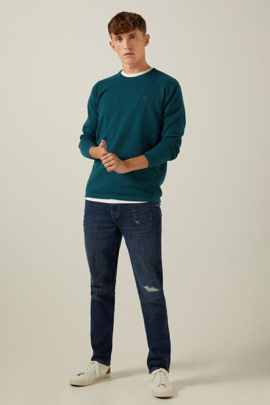 Essential cotton elbow pads jumper
