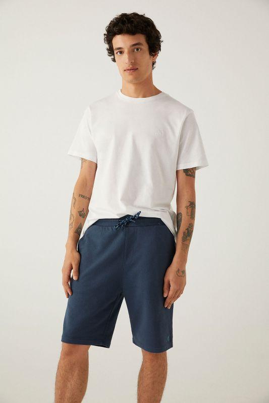 Towelling Bermuda shorts