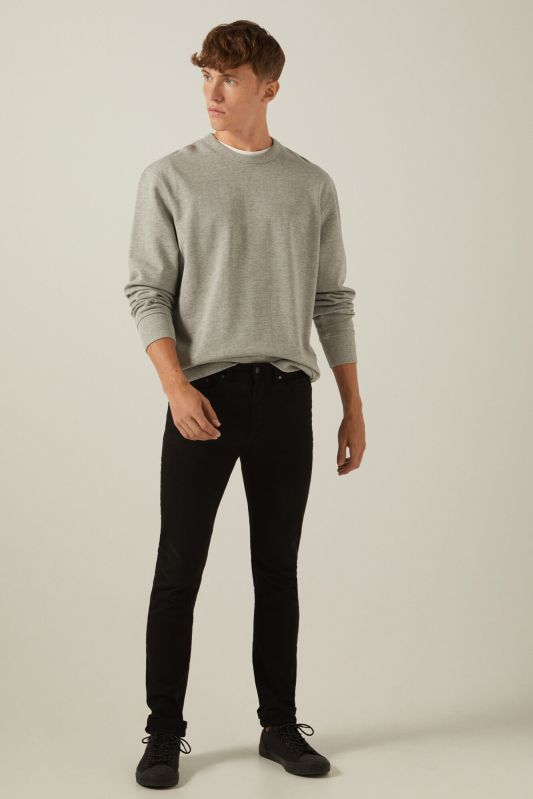 Skinny fit washed coloured 5-pocket trousers
