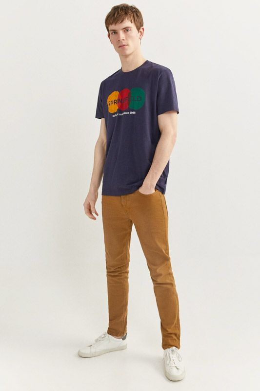 SKINNY FIT WASHED 5-POCKET TROUSERS