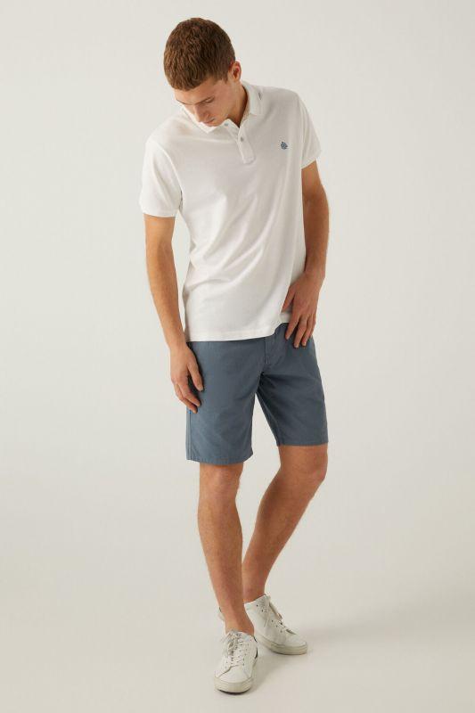 Micro print Bermuda shorts