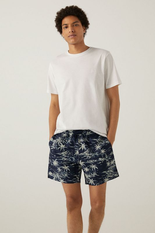 Landscape print swimming shorts