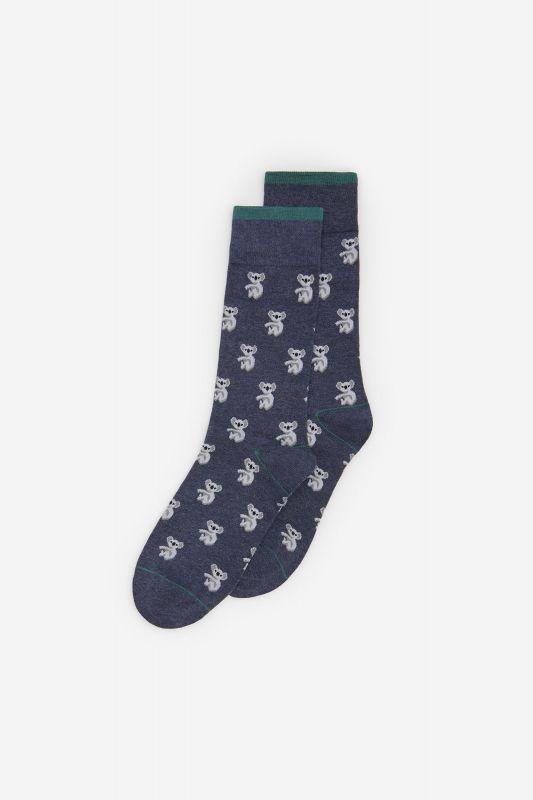 Jacquard no-show socks