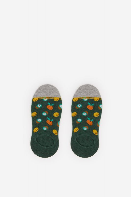 No-show socks with fruit