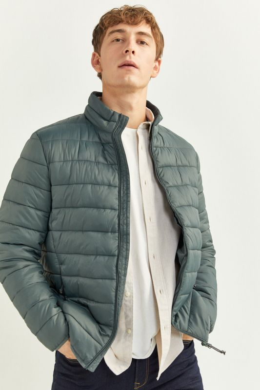 QUILTED JACKET WITH RECYCLED POLYESTER PADDING