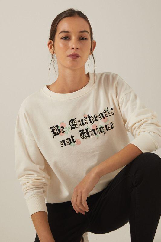 Organic cotton Be Authentic sweatshirt