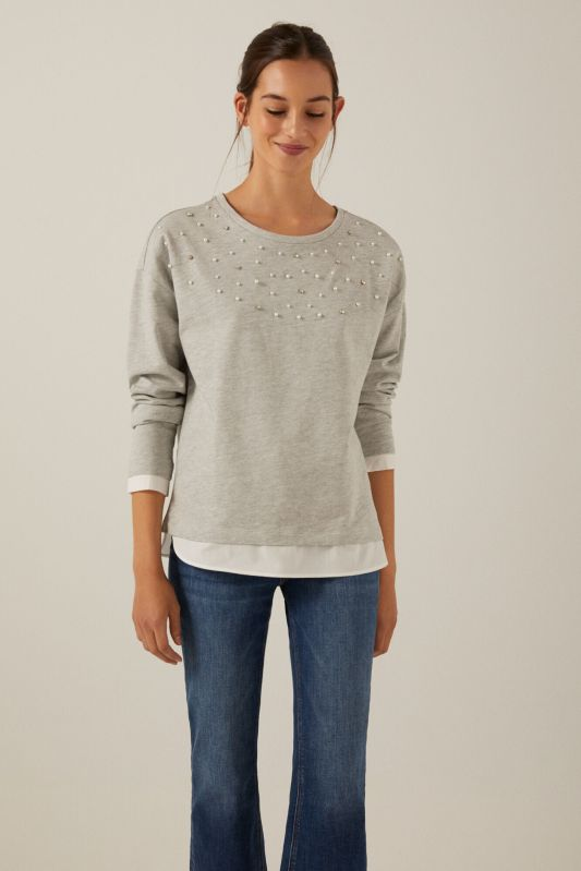 Organic cotton Bonjour sweatshirt