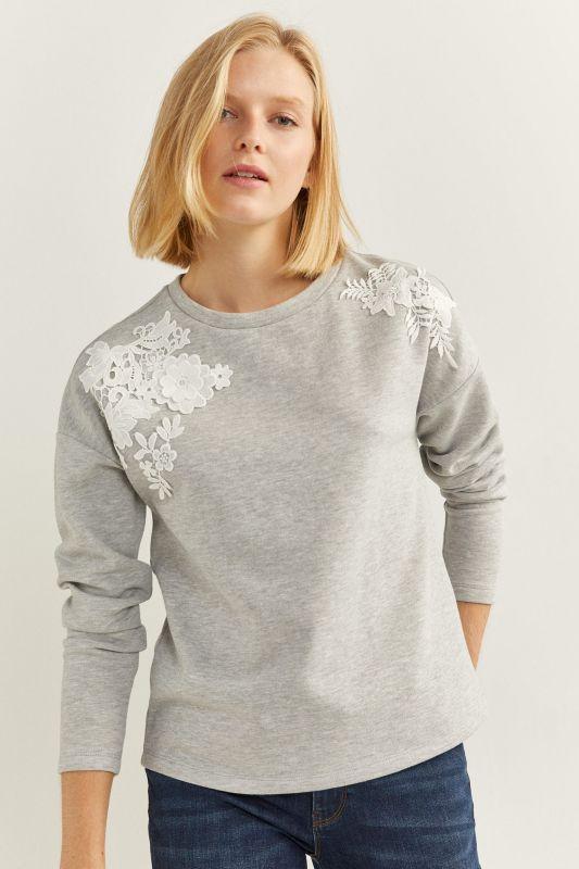 Floral Lace Sweatshirt