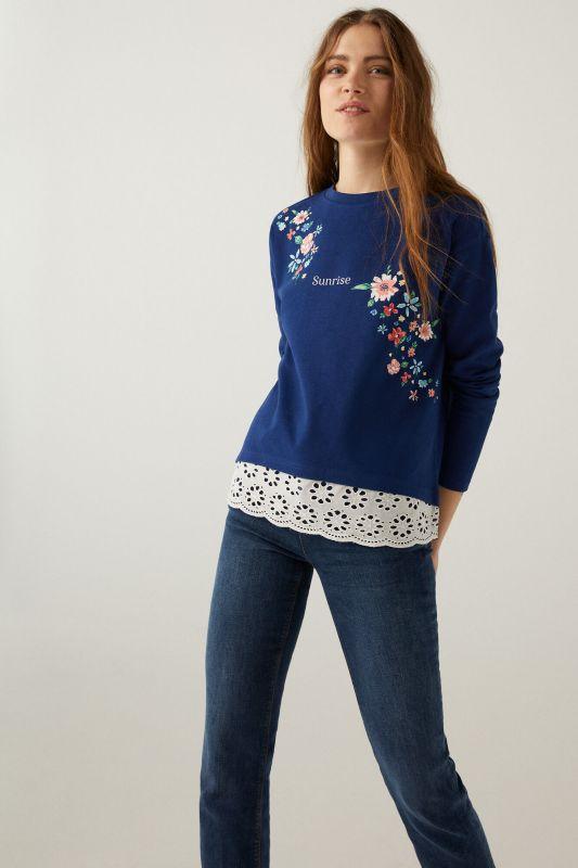 Sunrise Swiss embroidery sweatshirt