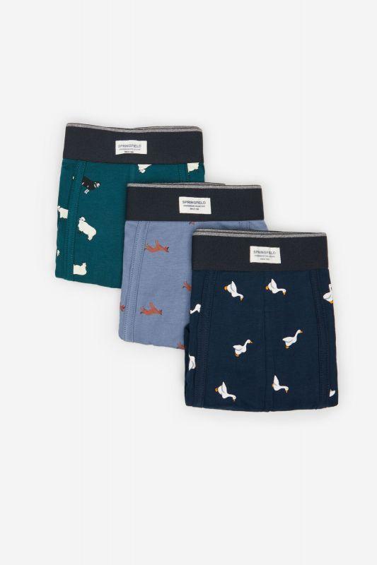 3-pack animal print boxers