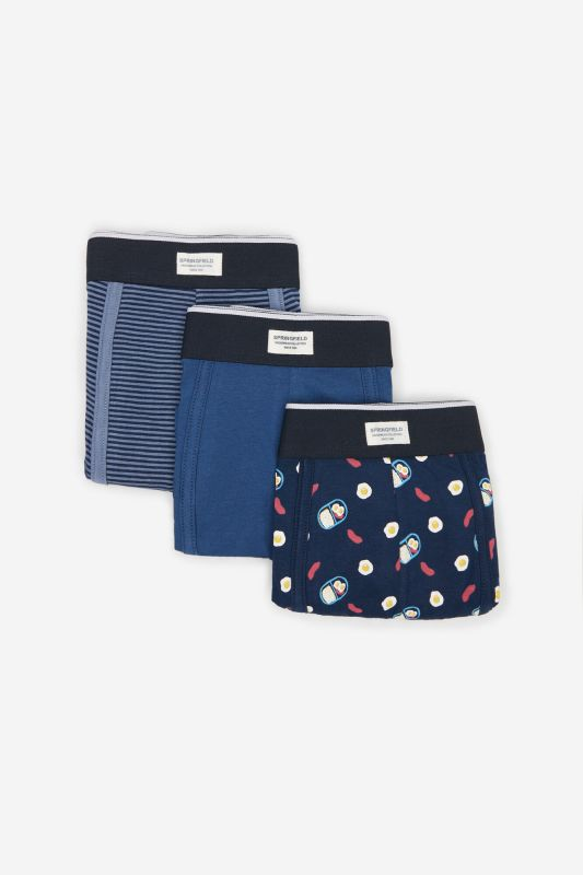 3-pack food print boxers