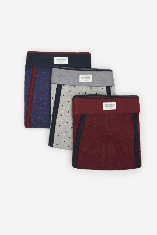 3-pack polka-dot print boxers