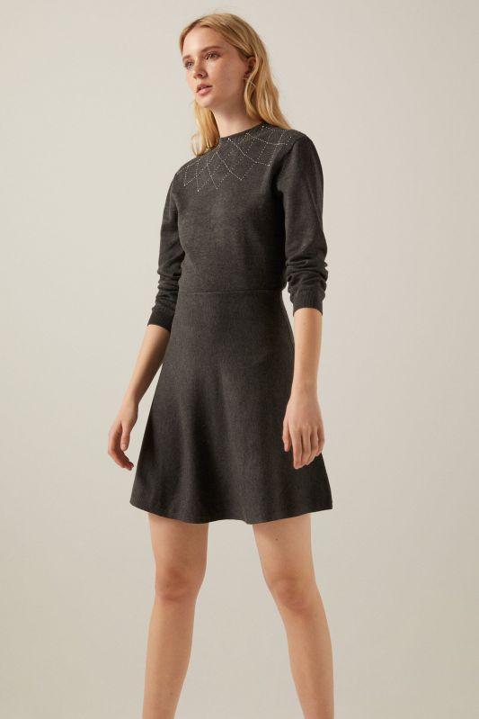 Jersey-knit skater dress