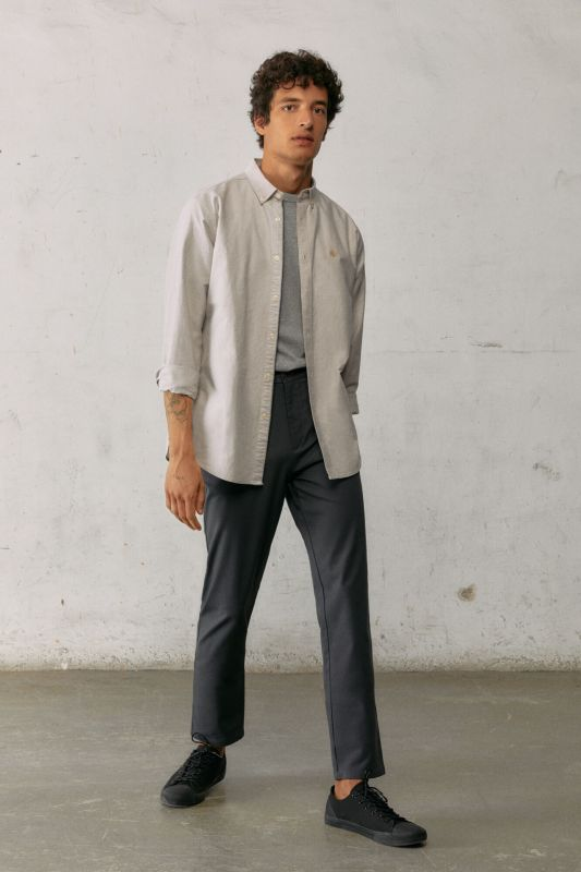 Textured two-tone chinos