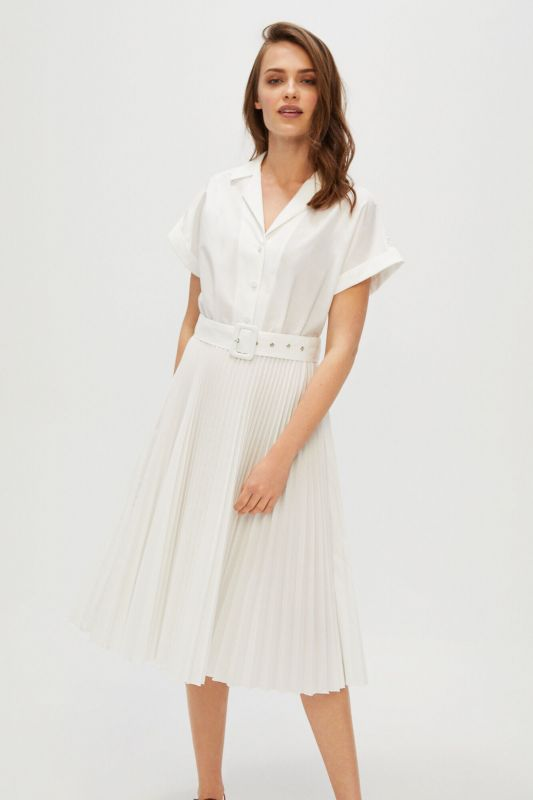 Dress with pleated skirt