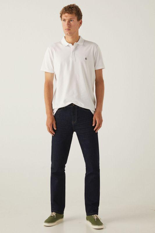 Desized wash jeans