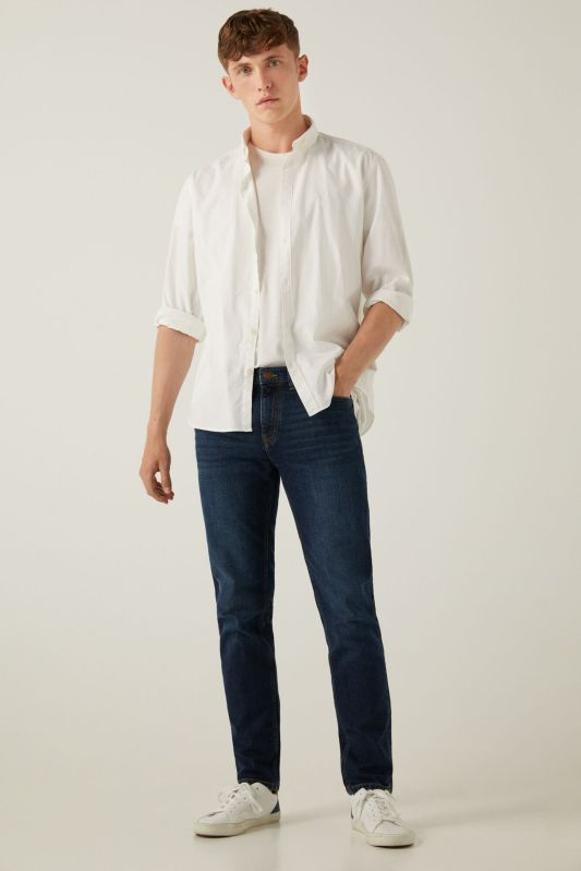 Medium-dark wash slim fit jeans