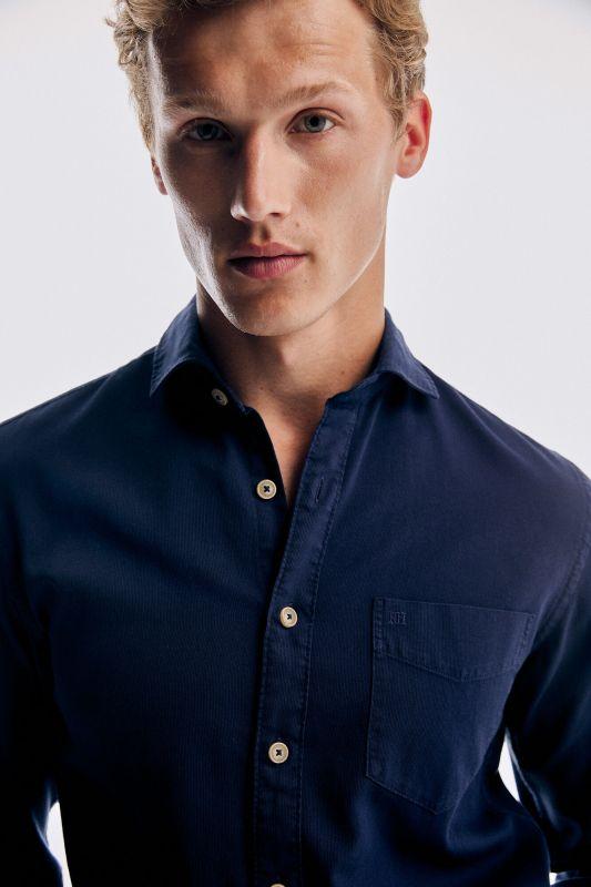 Organic cotton garment-dyed pinwale T-shirt