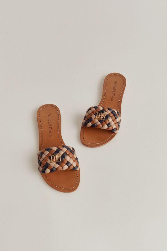Nappa leather sandal