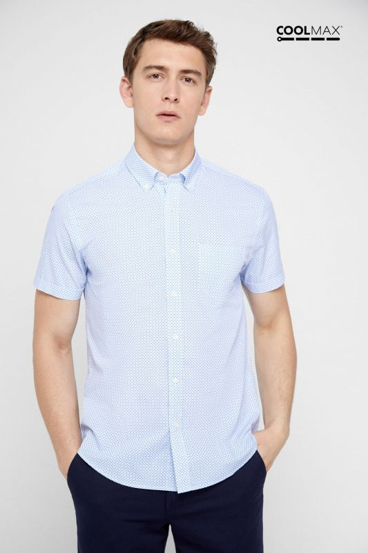 Printed short-sleeved COOLMAX shirt