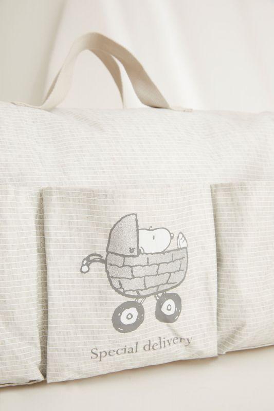 Snoopy striped maternity bag