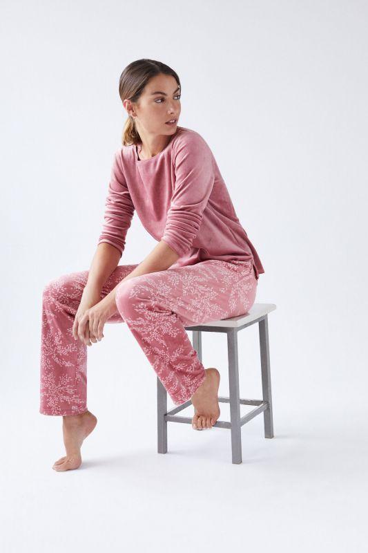 Long lace printed pyjamas