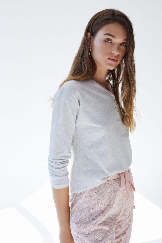 Long pink organic cotton pyjamas
