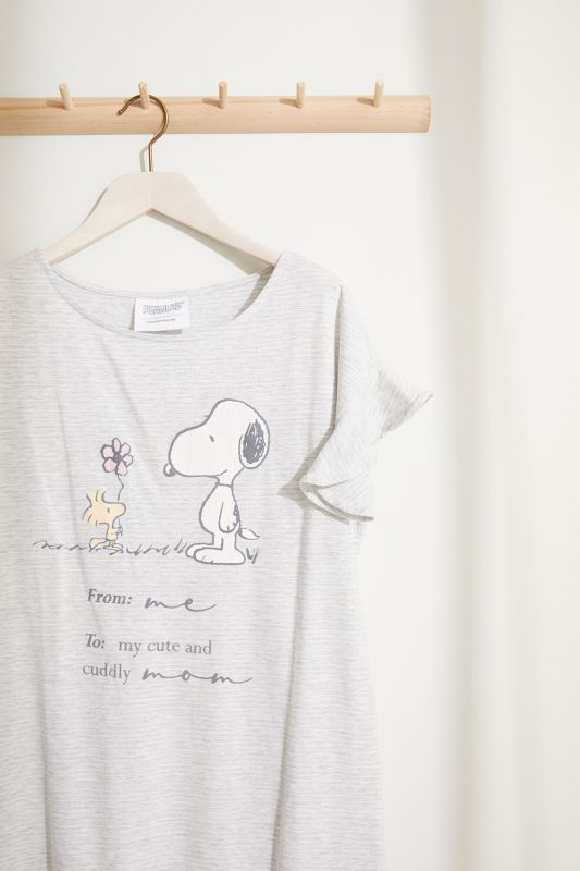 Striped Snoopy Maternity nightgown