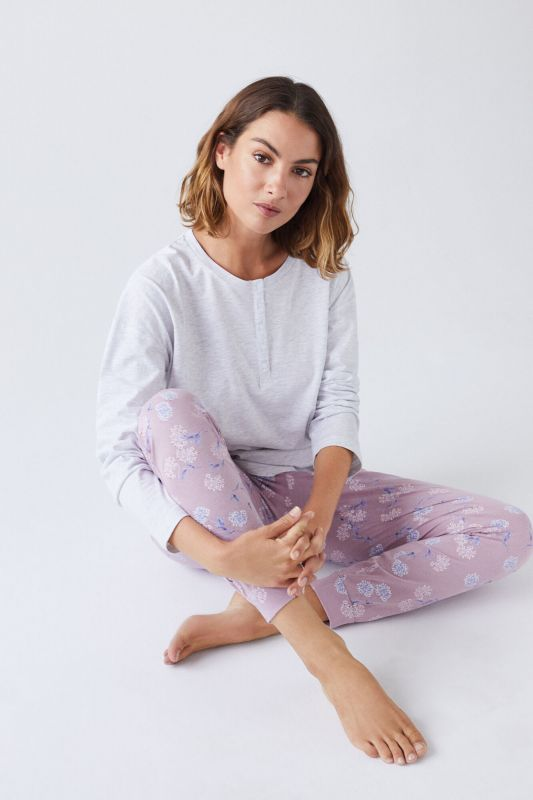 Long pink cotton trousers