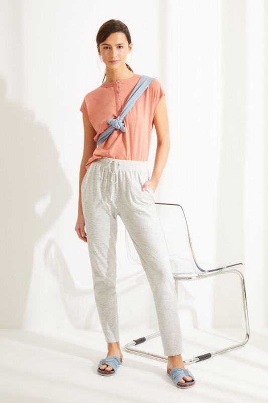 Grey cotton jogger bottoms