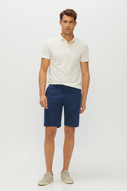 Structured Chino-style shorts