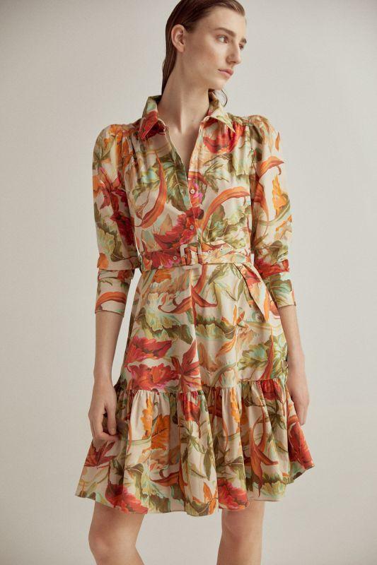 Printed organic cotton dress