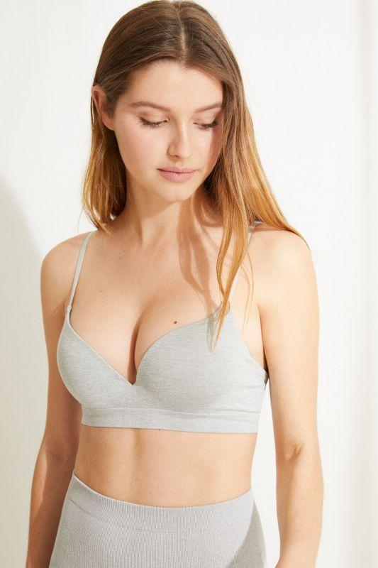 GORGEOUS Grey seamless push-up bra