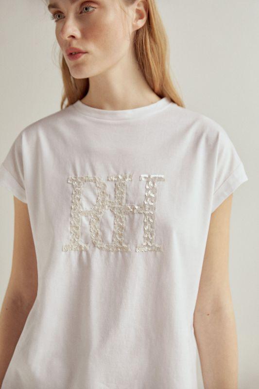Essential sequin logo loose fit T-shirt