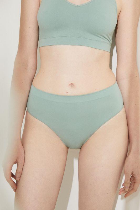 Green seamless Brazilian high leg panty