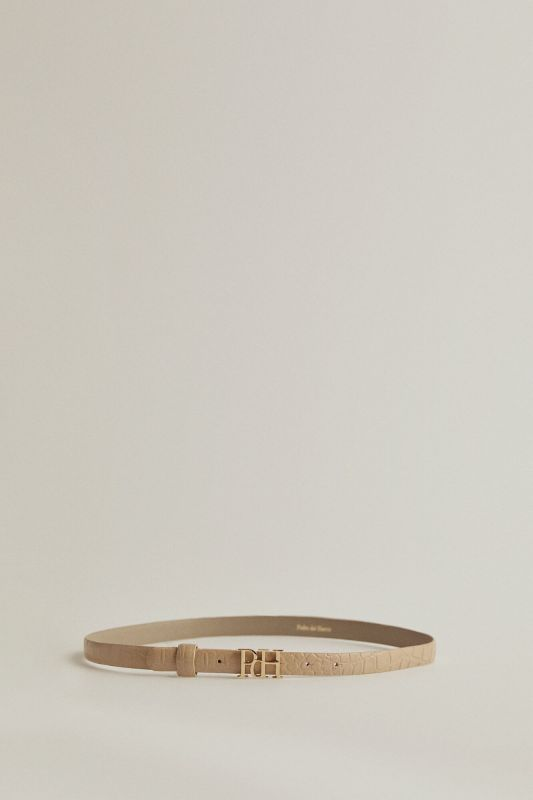 Crocodile engraved belt with PdH logo