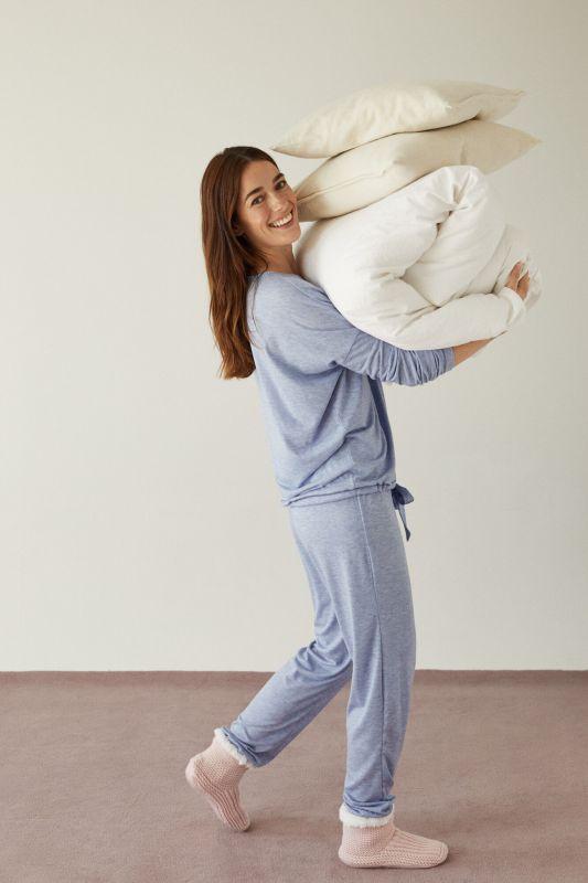 Long blue pyjamas
