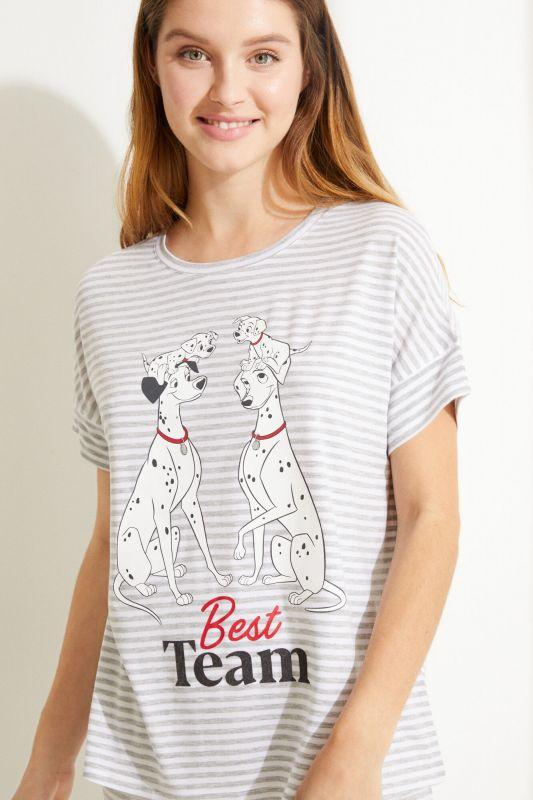 Striped cotton 101 Dalmatians long pyjamas