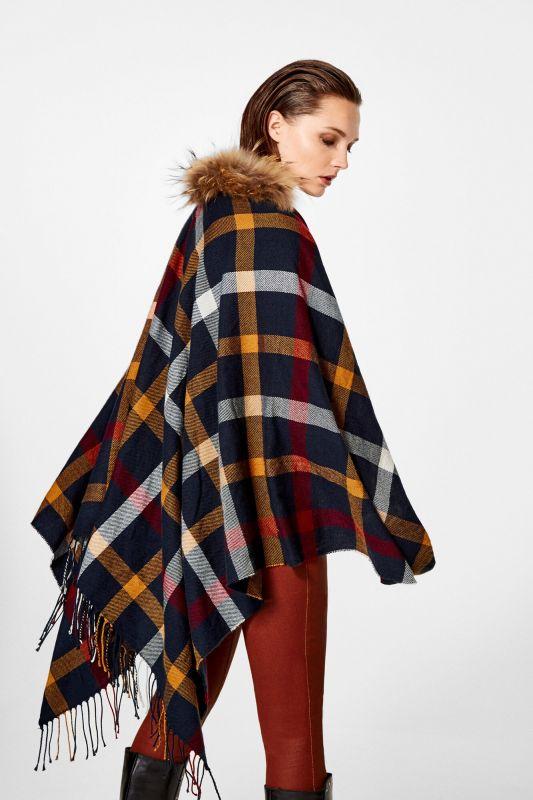 Silk effect print shawl