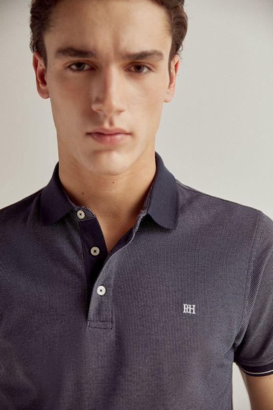 Short-sleeved PdH logo polo shirt