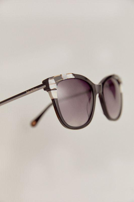 Black and white tortoiseshell sunglasses