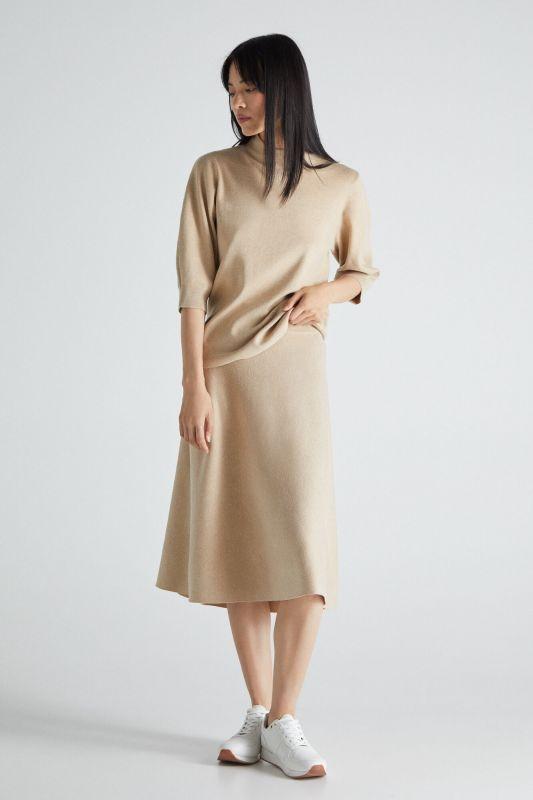 Jersey-knit circle skirt