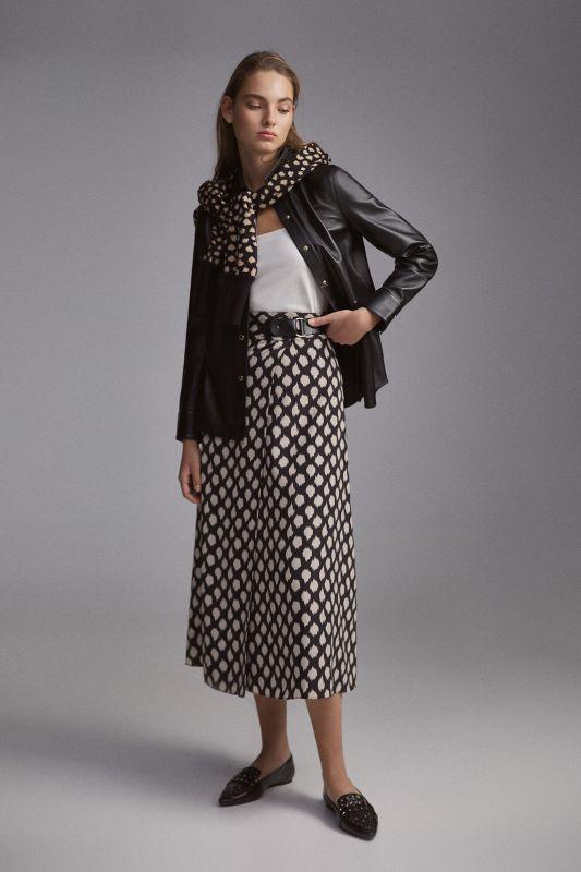 Printed pareo skirt
