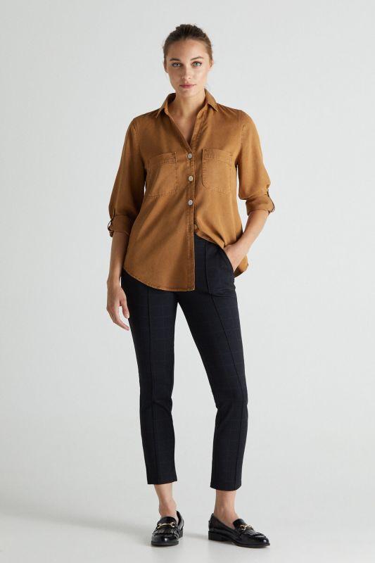 Jersey-knit trousers