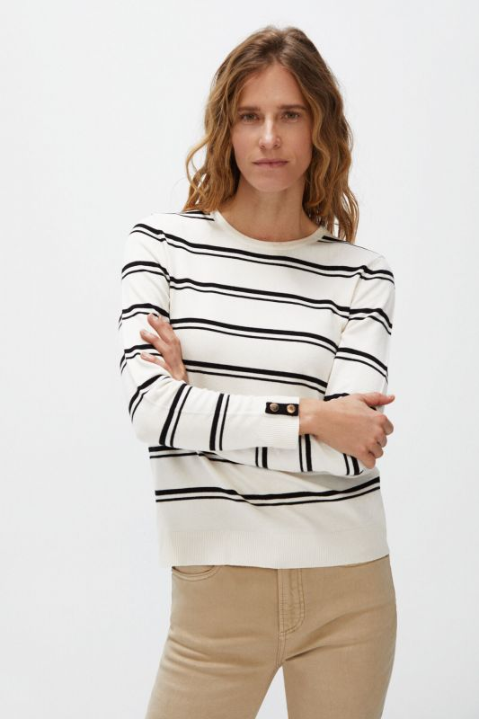 Striped jumper with buttons