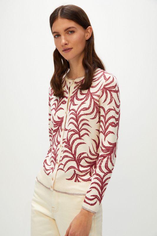 Printed jersey-knit jacket