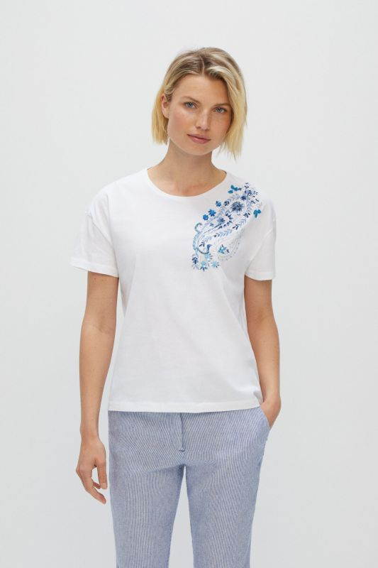 Embroidered paisley t-shirt