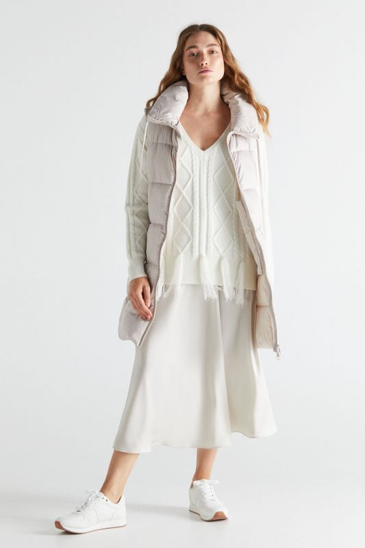 Long vest with collar