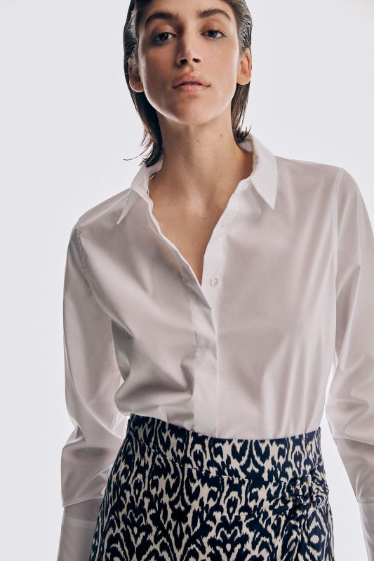 Essential easy-iron poplin blouse