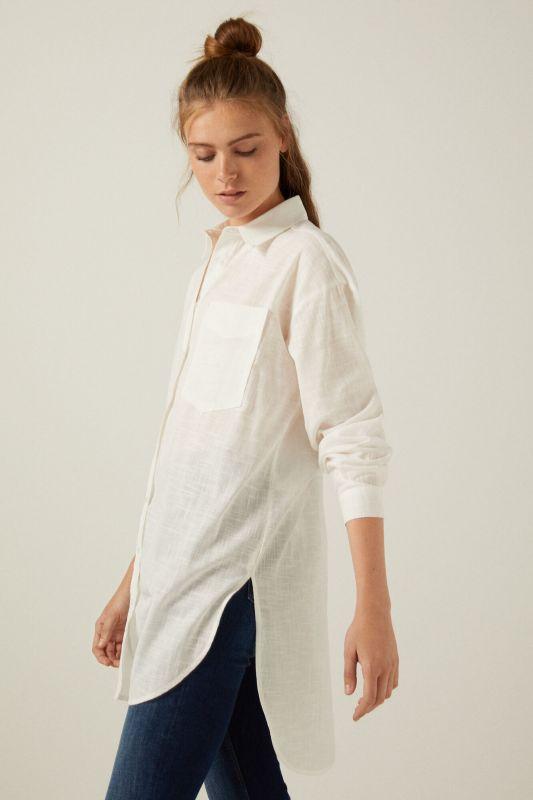 Long shirt with pocket